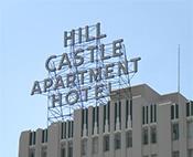 Hill Castle Apartment Sign